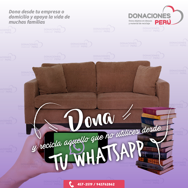 Dona y recicla - Recicla y dona - Dona desde Whatsapp - Recicla - Dona
