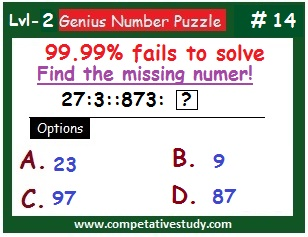 Math Puzzle: Find the missing number: 27 : 3 :: 873 : ?