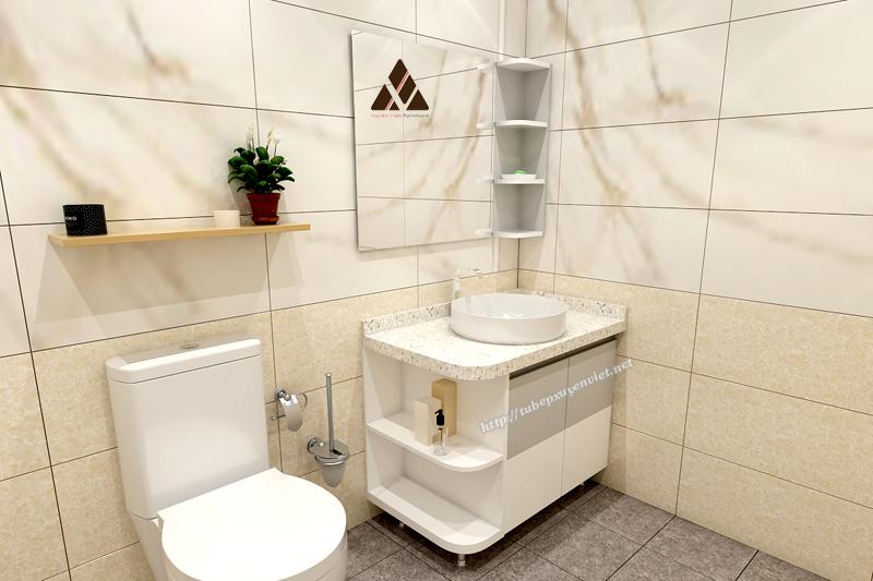 Mẫu tủ lavabo chân đứng cho nhà tắm hiện đại