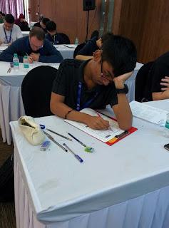 Pranav Kamesh solving Puzzles at World Sudoku Championship 2017