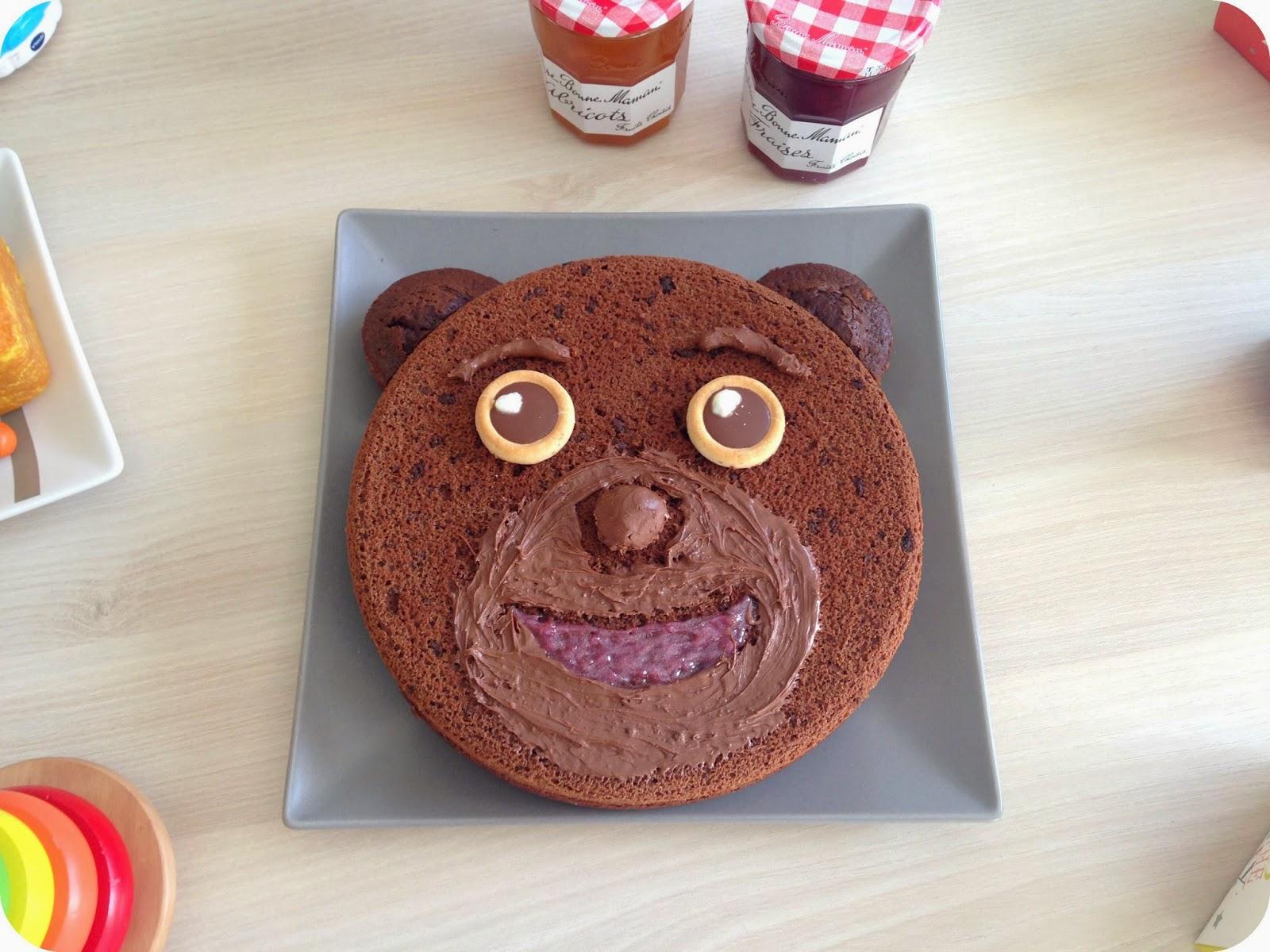 gâteau cake au chocolat ourson ours petit ours brun