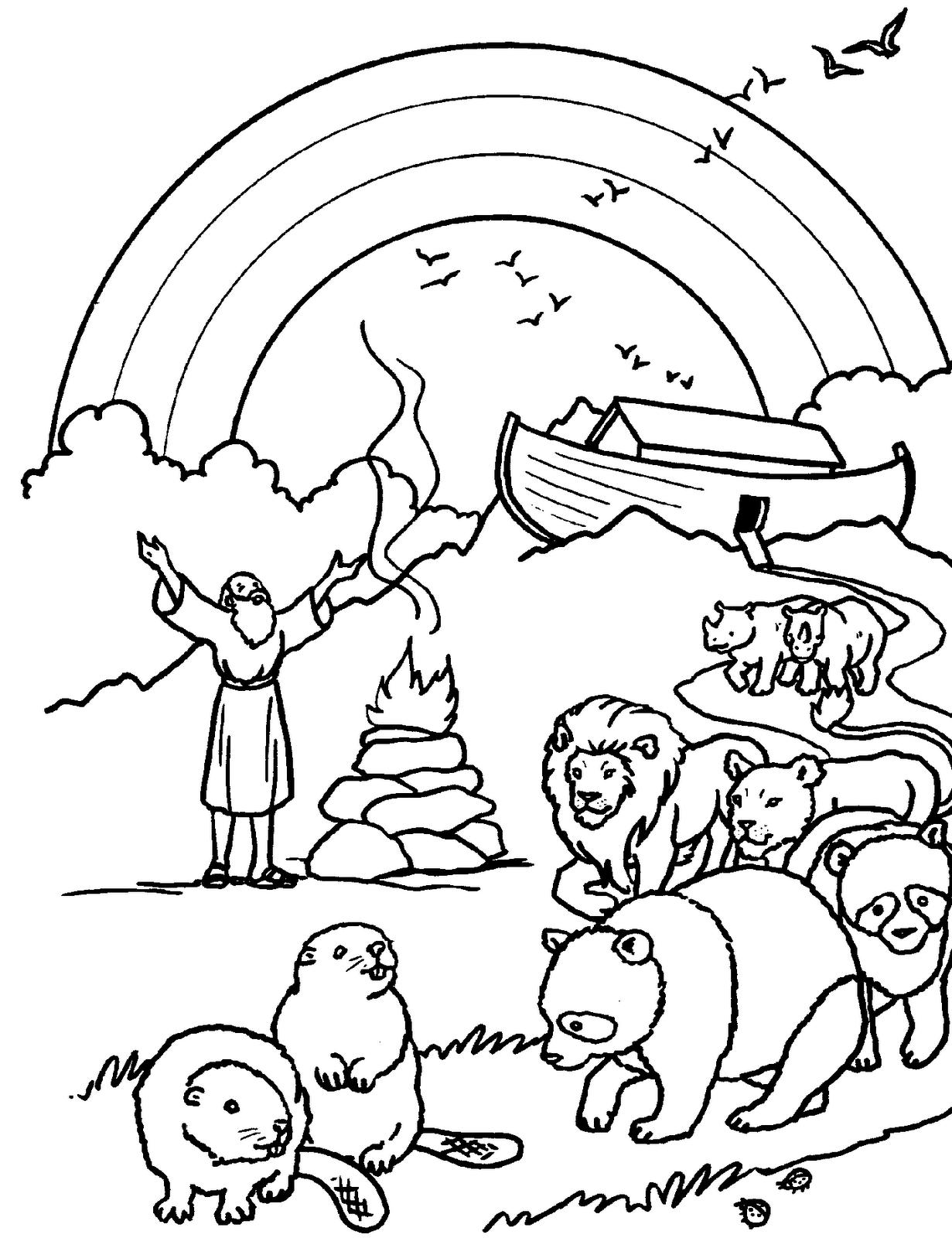El Renuevo De Jehova: Arca de Noe - Imagenes para colorear ...