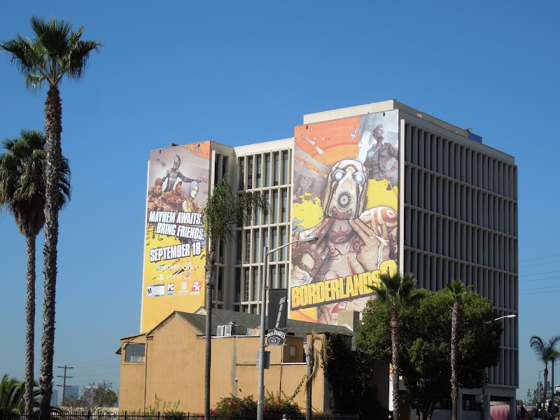 Giant Borderlands 2 billboard Sunset Strip