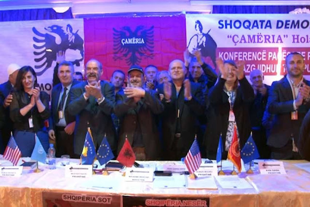 Chameria is declared independent in The Hague, Government in exile