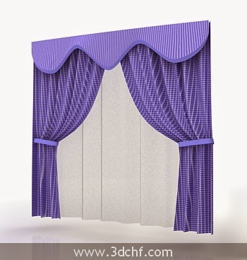 curtain 3d model download