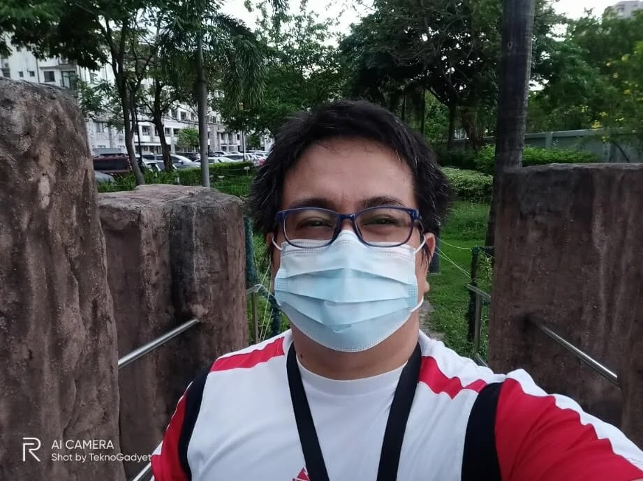 Realme 6 Camera Sample - Outdoor, Selfie with Mask