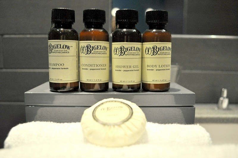Bathroom toiletries in the Pullman London St Pancras