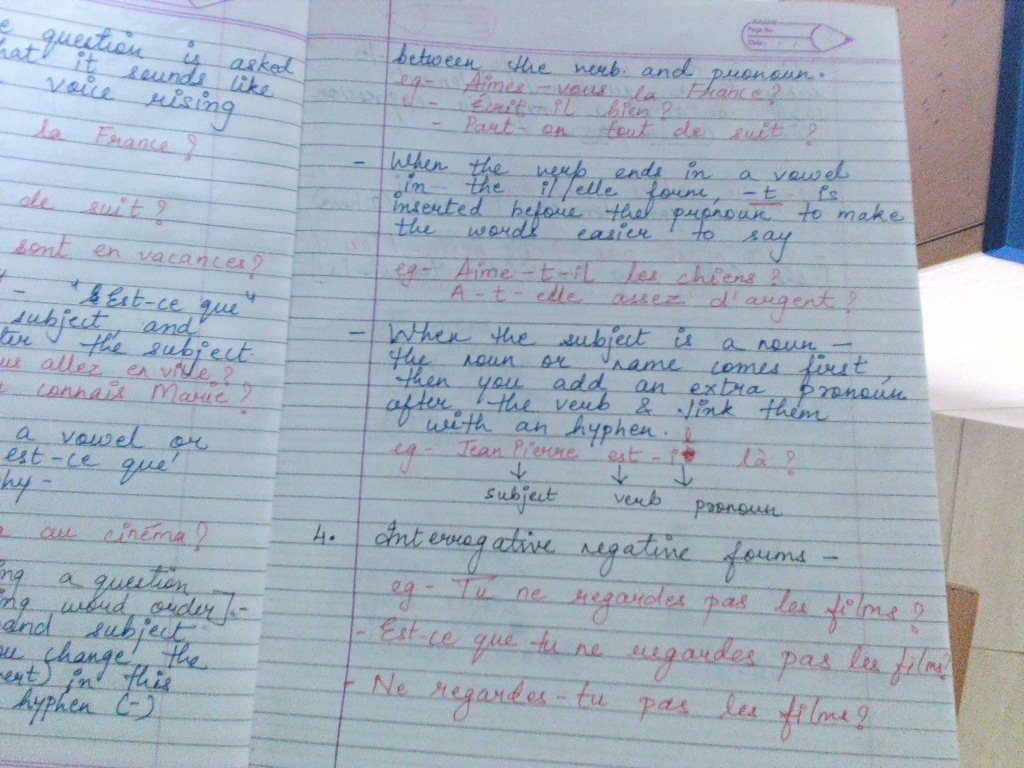 Grade -7 Podar International School,Gandhinagar: STD-7 French CH-3 ...