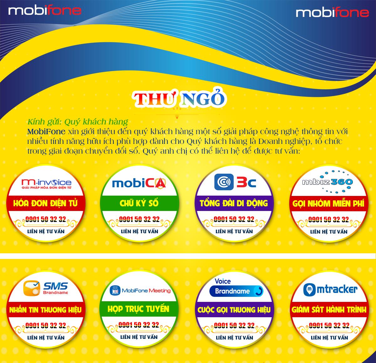 MobiFone cung cấp nhiều giải pháp hữu ích dành cho cơ quan, tổ chức, Doanh nghiệp