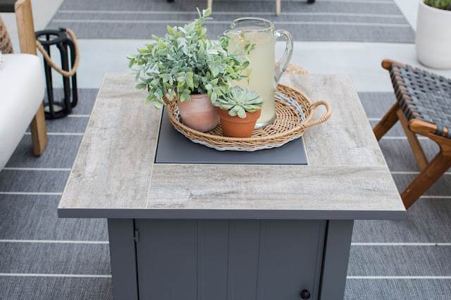 A Modern Fire Pit Table- Budget-Friendly Patio Ideas