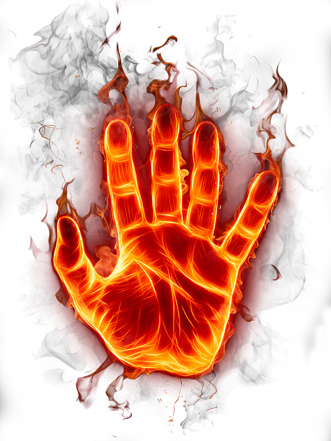Fire Flame, Flame Hand, flaming hand illustration, effect, orange, explosion png free png download