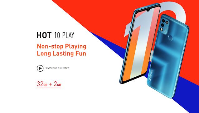 Infinix تعلن رسمياً عن هاتف Hot 10 Play برقاقة Helio G25 وسعر 105 دولار