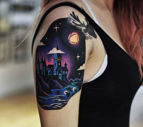 kadın omuz dövmeleri woman shoulder tattoos