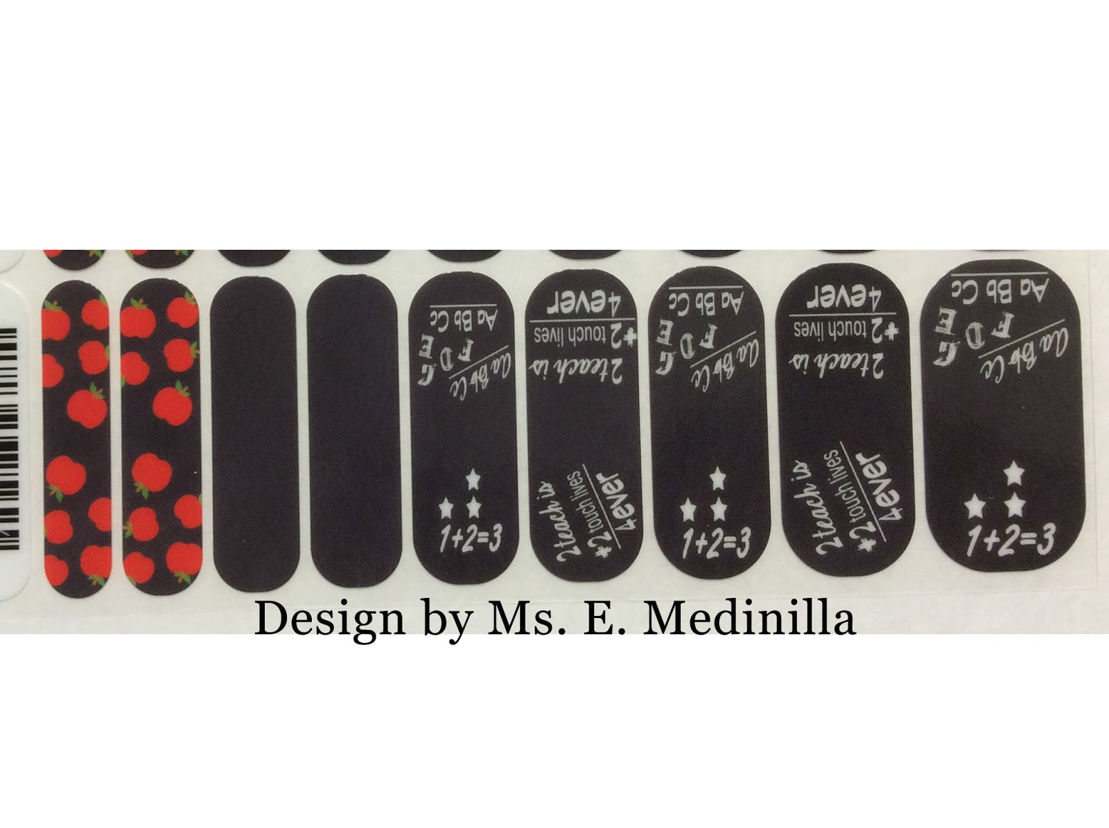 Mis 2 Manos: Made by My Hands: Teacher Nail Wraps, Black and white ...
