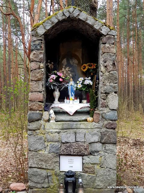 Warszawa Warsaw Anin Międzylesie Wawer warszawskie kapliczki w lesie Saks
