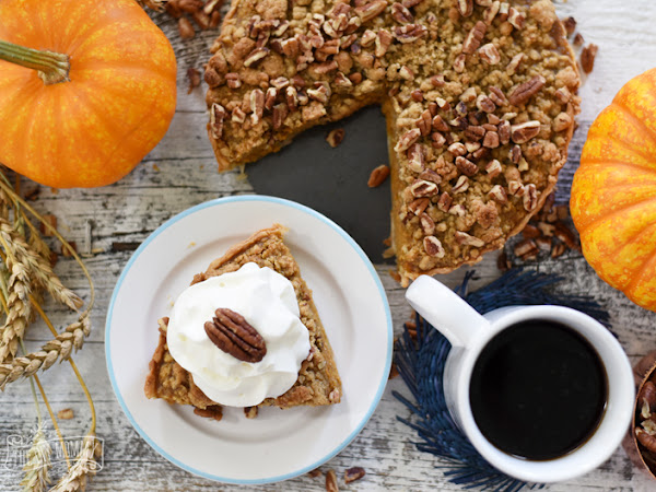 Pumpkin Tart With Nutty Streusel  and Incredibly Delicious Homemade Applesauce