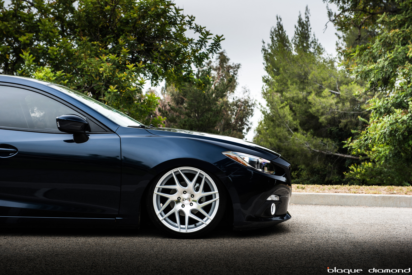 2014 Mazda 3 Fitted With 19 Inch BD-3's in Silver | BLOG 2014 Mazda 3 Wheel Size