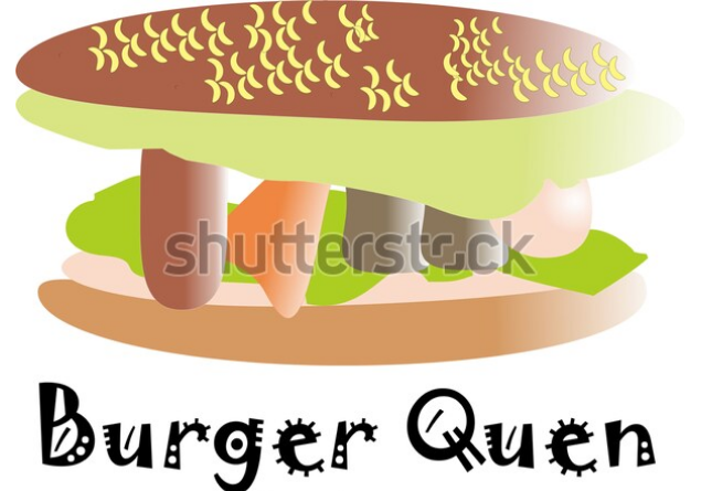 cartoon illustration burger