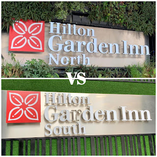 Comparing the Hilton Garden Inn North vs South Towers