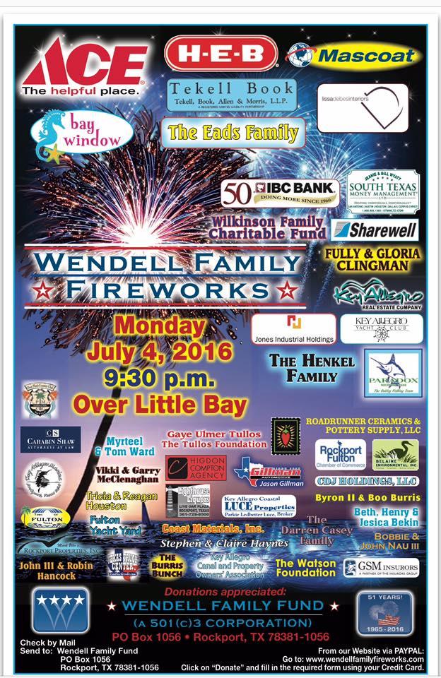 Corpus Christi Area Fourth Of July Fireworks Displays Corpus Christi Fun For Kids