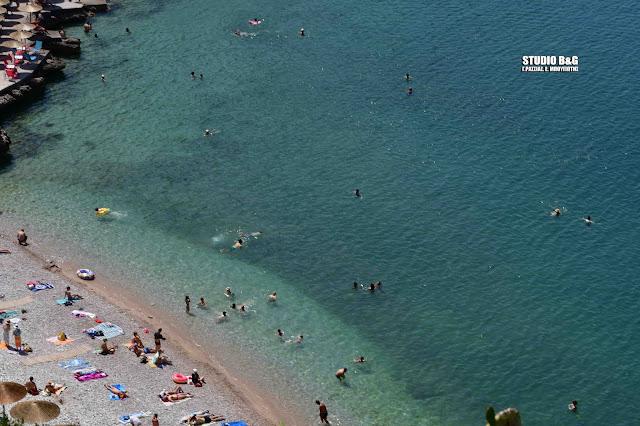 Αργολίδα: Στις παραλίες για ανάσα δροσιάς - Πόσο έφτασε η θερμοκρασία το μεσημέρι