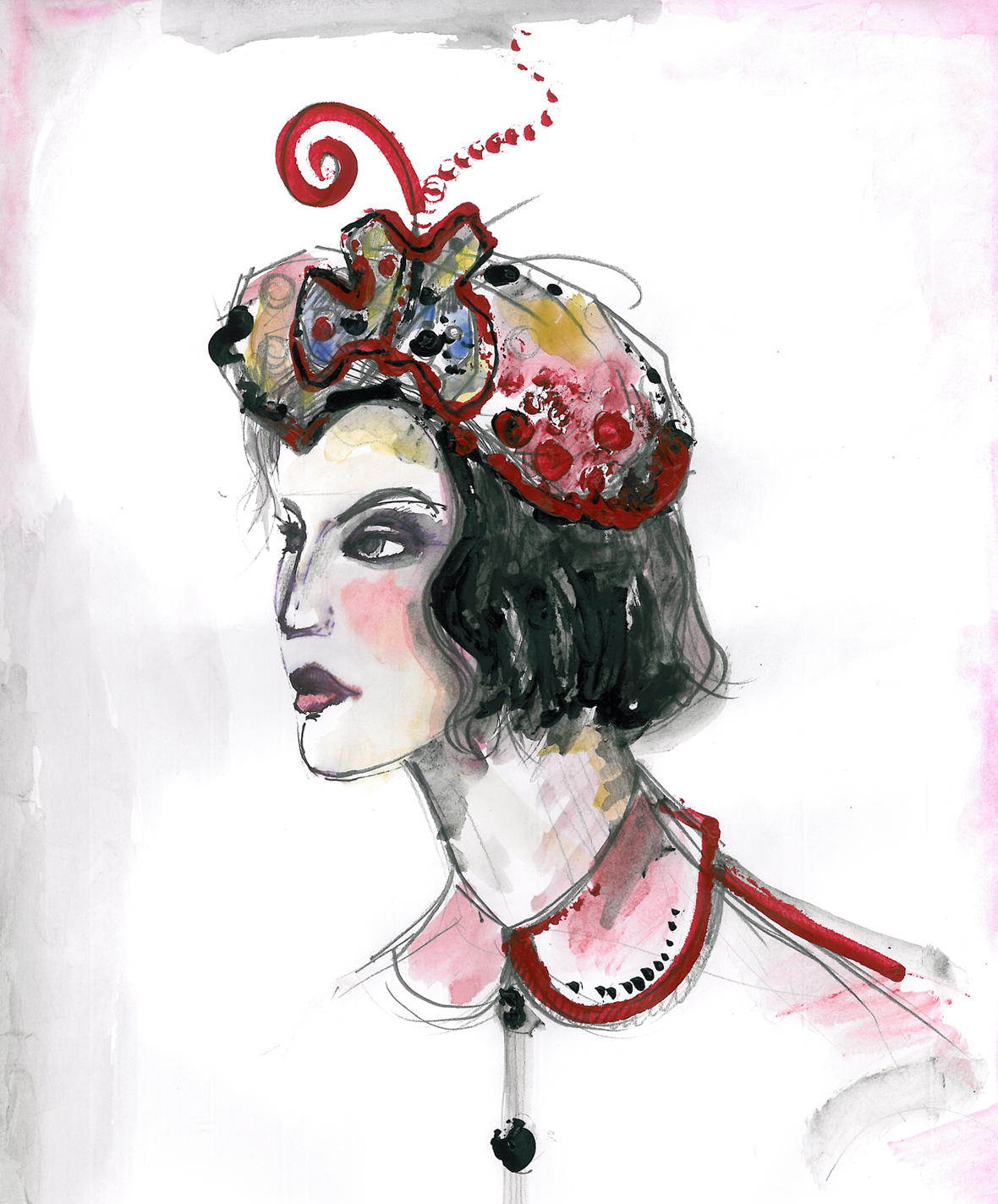 Victorian Inspired Fashion Illustration