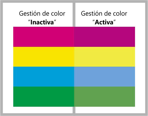 colores con gestión de color