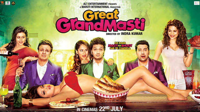 full cast and crew of bollywood movie Great Grand Masti! wiki, story, poster, trailer ft Ritesh Deshmukh, Vivek Oberoi, Aftab Shivdasani, Urvashi Rautela, Shraddha Das