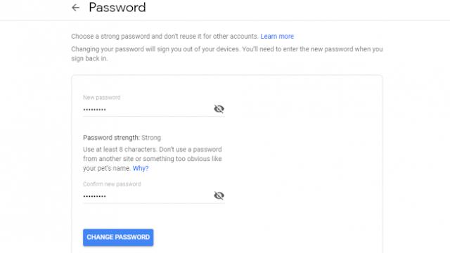 password gmail