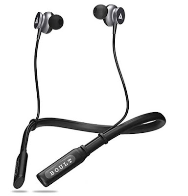Neckband Bluetooth earphones with mic