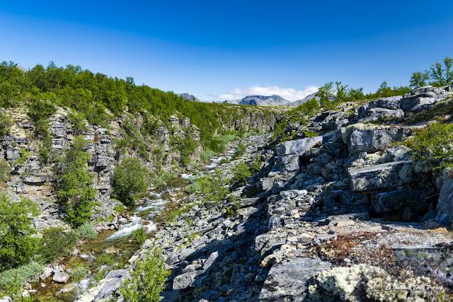 Cañón del río Ula en Storulfossen, Rondane - Noruega