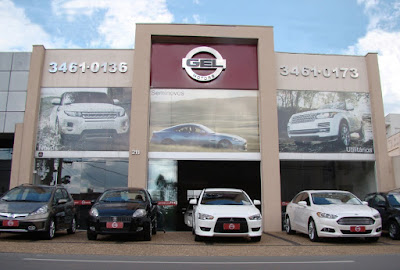 Fachada da loja multimarcas Gel Motors, na Rua José Bonifácio 211, Bairro Colina, em Americana.