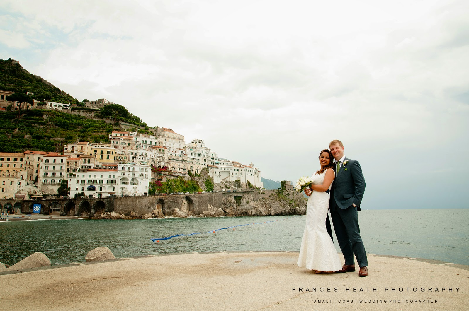 Bride and groom portrait in Amalfi
