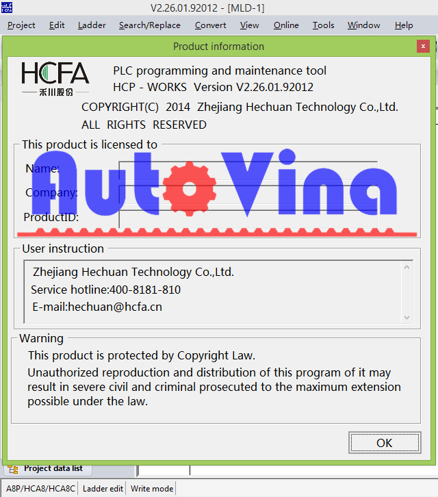 Hướng dẫn tải phần mềm HCP Works lập trình cho PLC hãng HCFA