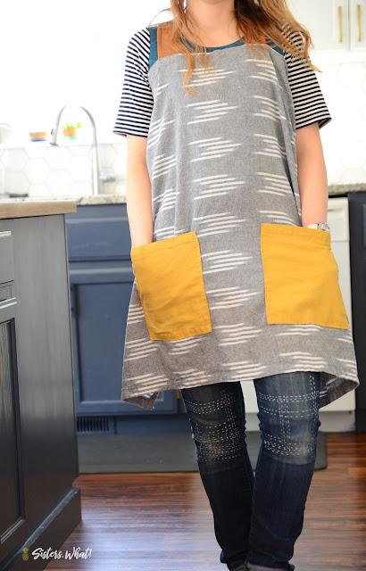 easy diy linen apron