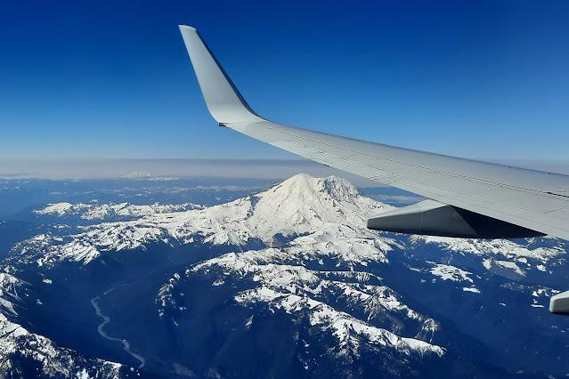 Flying over Mt. Rainer