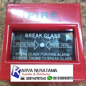 Jual Emergency ALarm Break Glass 4 inch Round di Surabaya