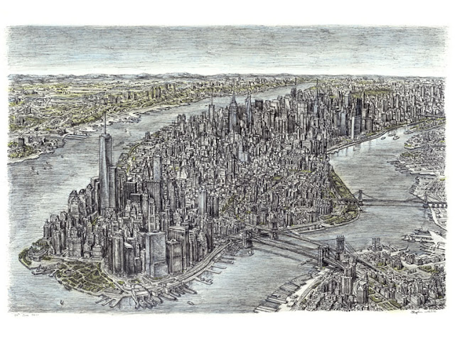 Stephen Wiltshire retrato de Manhattan, Nueva York