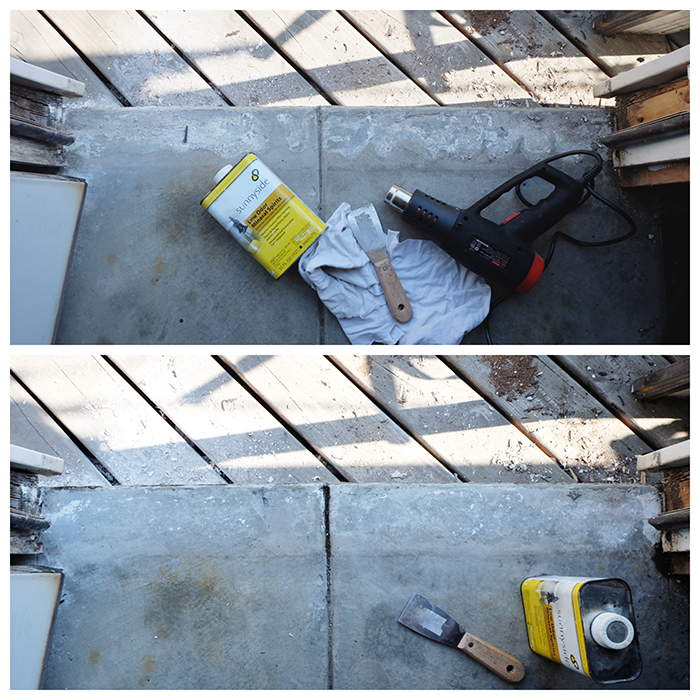 cleaning up concrete after sill removal