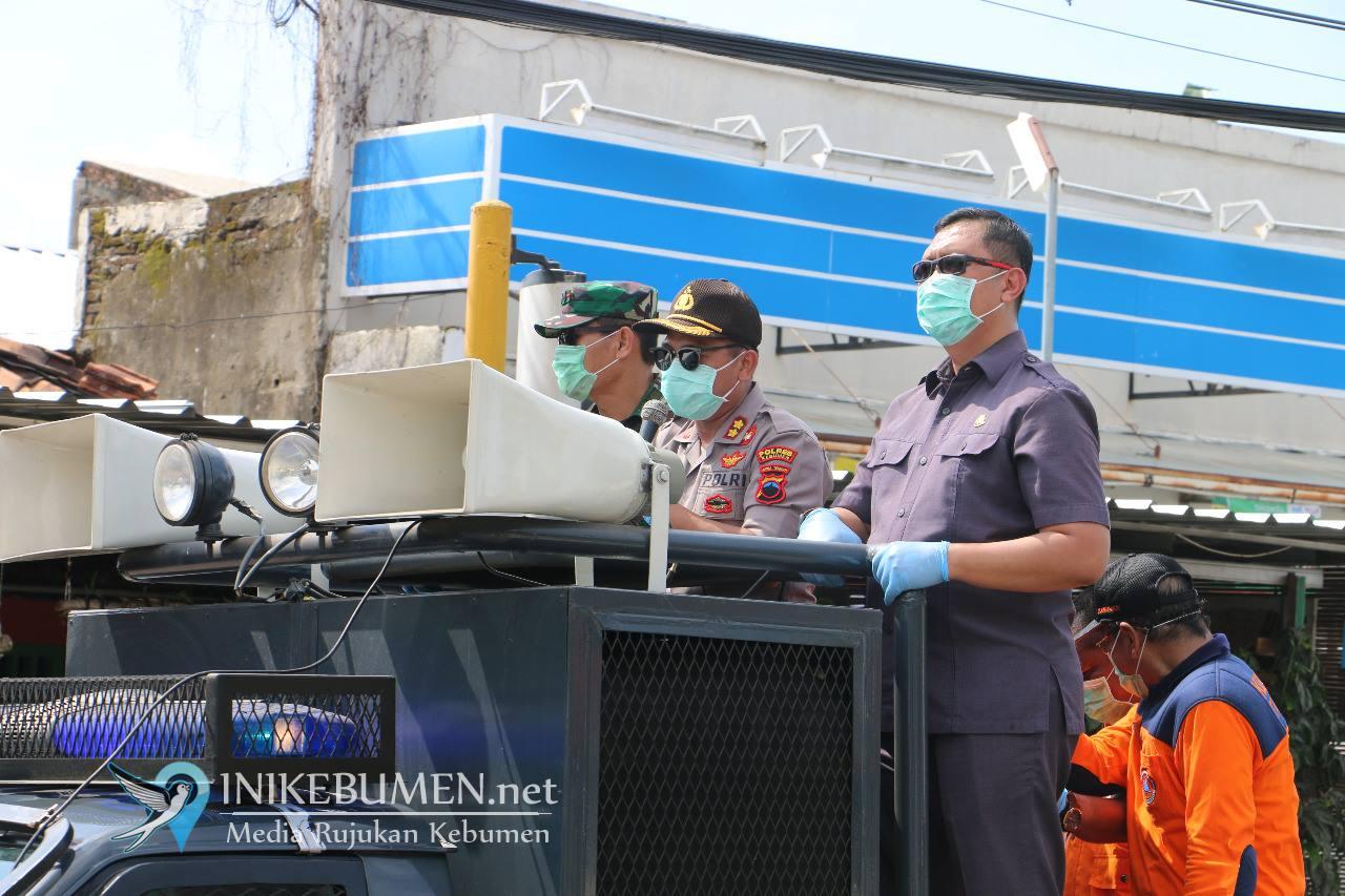 Polres Kebumen Kerahkan Water Canon untuk Semprotkan Disinfektan