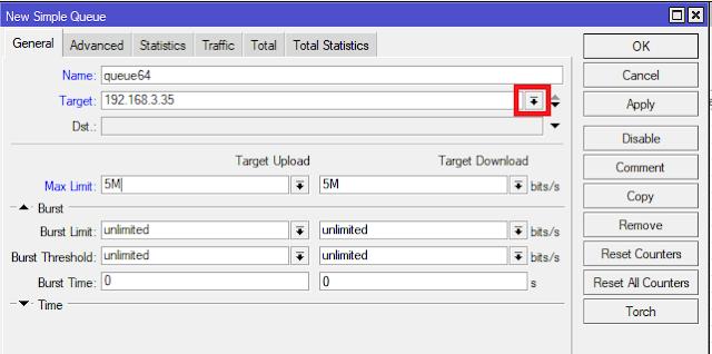 Limit Bandwidth Mikrotik per IP Address