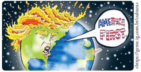 FDSBC 2019: Assinale a alternativa que melhor explicita a intencionalidade da imagem acima, elaborada pelo cartunista Phil Hands