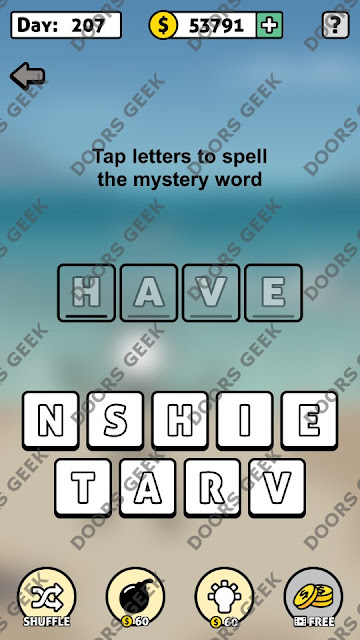 Words Story Day 207 Answer, Cheats, Solution