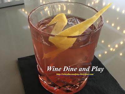 The gold rush cocktail is made with whiskey, umeshu plum wine, manzanilla sherry wine, bitters, and honey