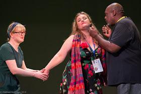 Wagner: Die Meistersinger - Sarah Denbee, Catharine Woodward, Ronald Samm - Fulham Opera (Photo Matthew Couglan)