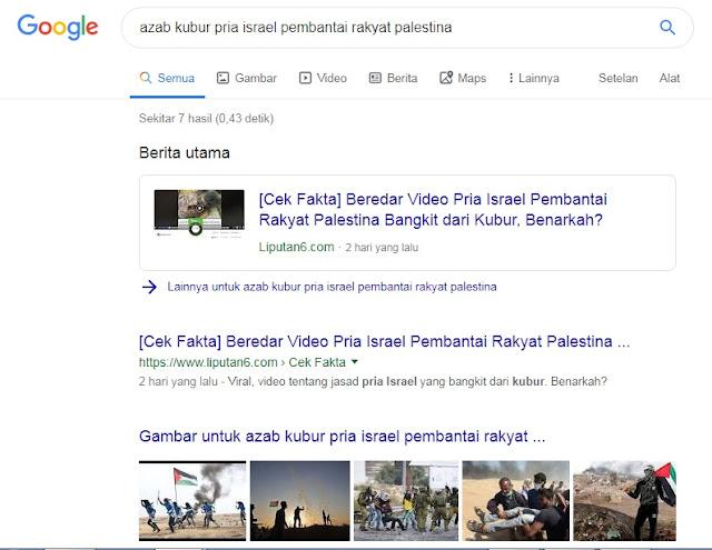 Azab Kubur Pria Israel Pembantai Rakyat Palestina