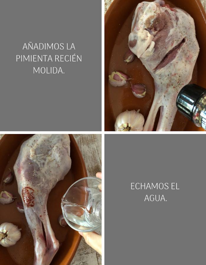 Preparación pierna de cordero al horno