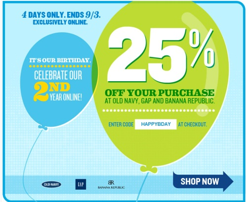 Gap birthday discount