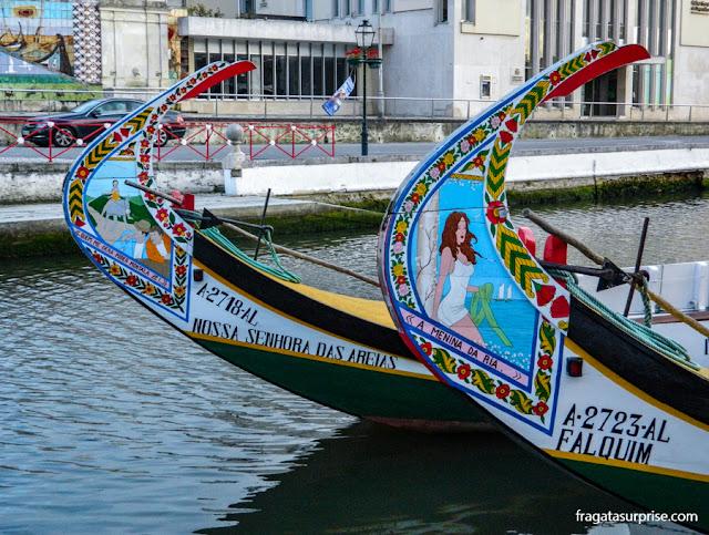 Moliceiros, embarcações típicas de Aveiro, Portugal