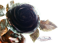 Black Rose cold porcelain